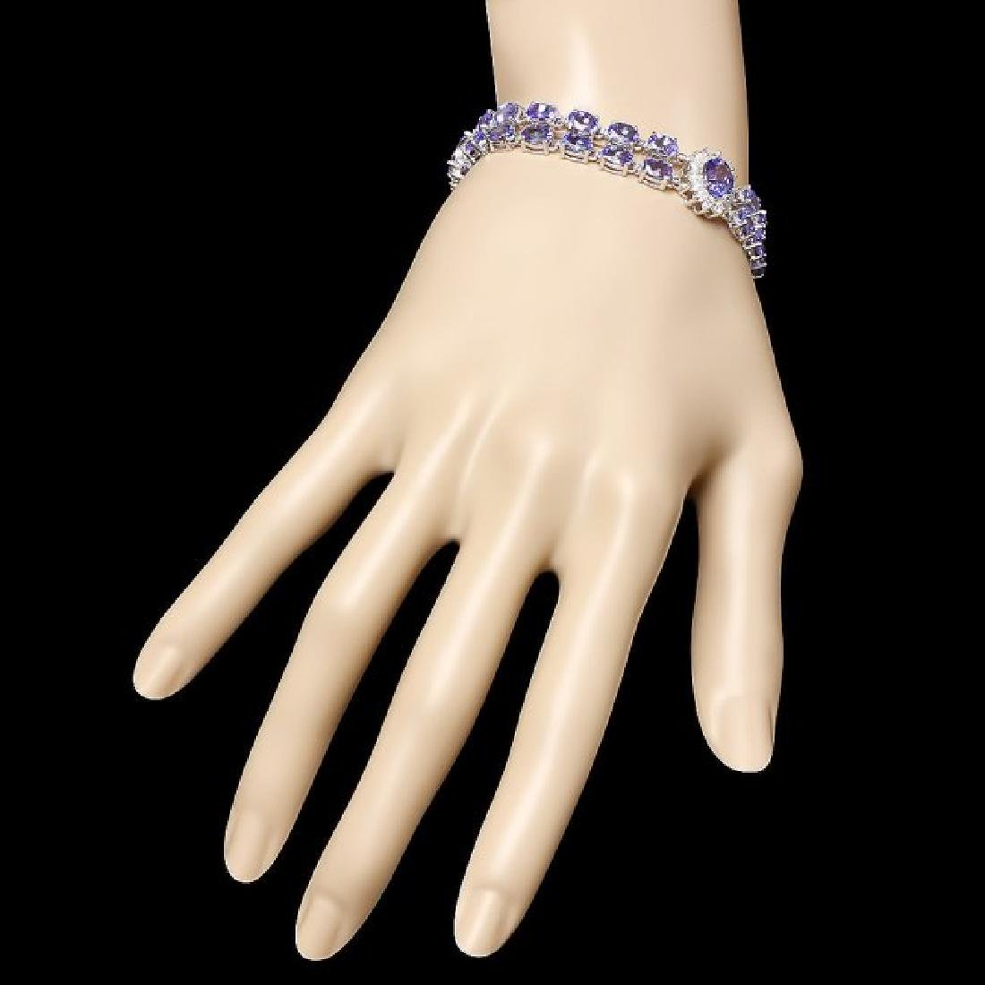 14k 21.88ct Tanzanite 1.66ct Diamond Bracelet - 4