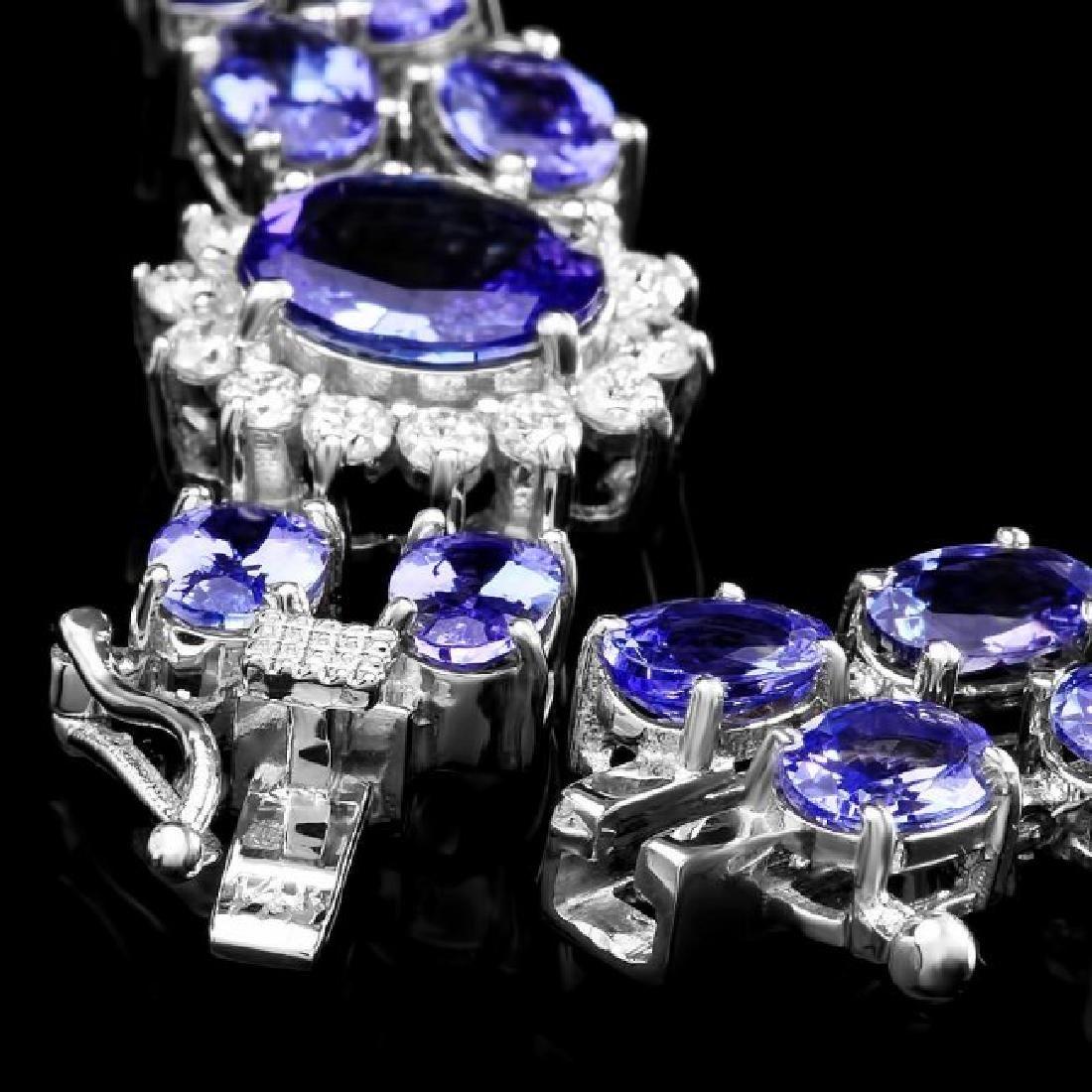 14k 21.88ct Tanzanite 1.66ct Diamond Bracelet - 5