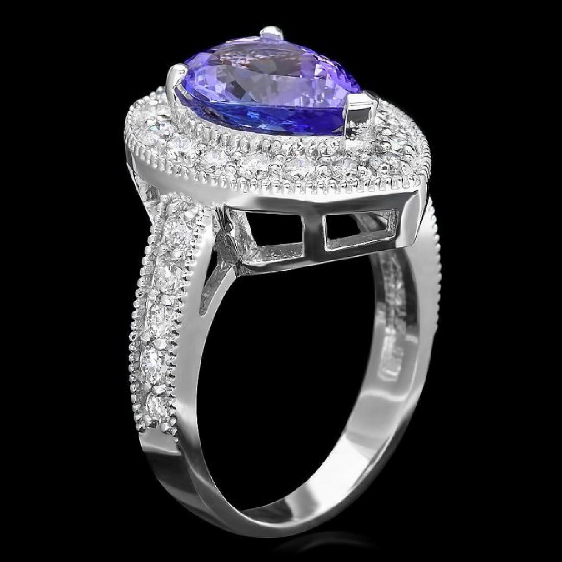 14k Gold 2.80ct Tanzanite 1.10ct Diamond Ring