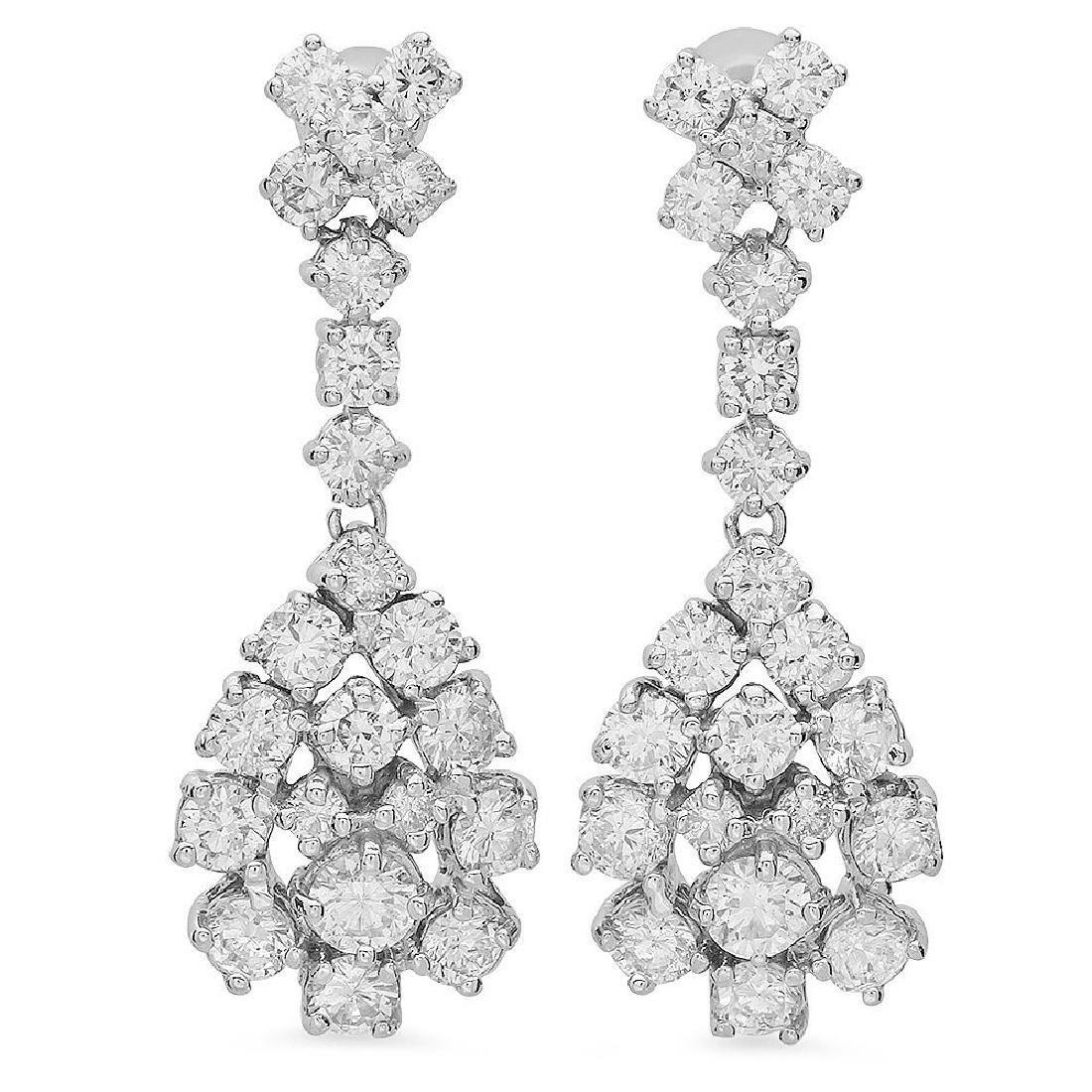 14K Gold 3.00ct Diamond Earrings