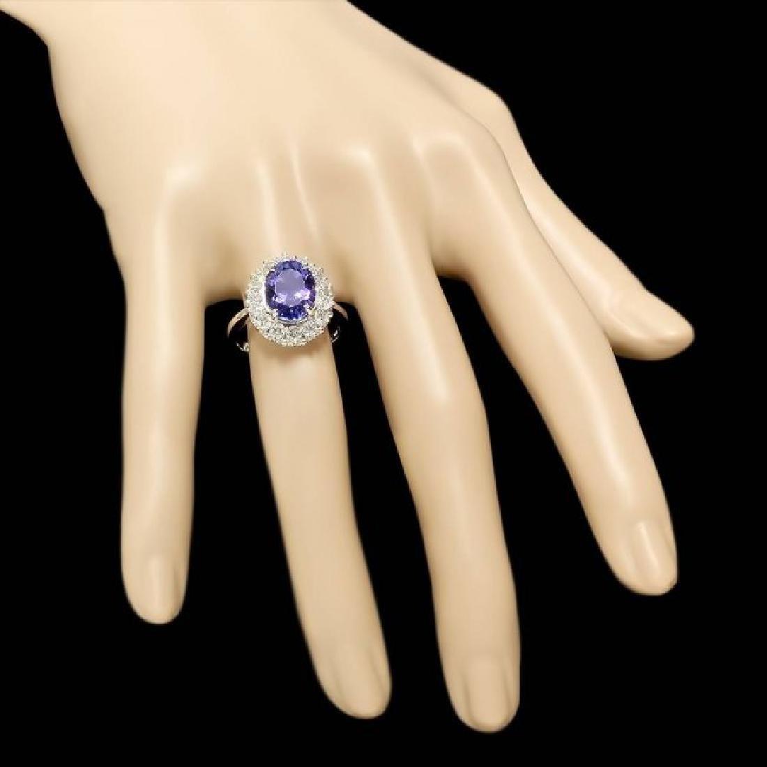 14k Gold 4.00ct Tanzanite 1.00ct Diamond Ring - 4