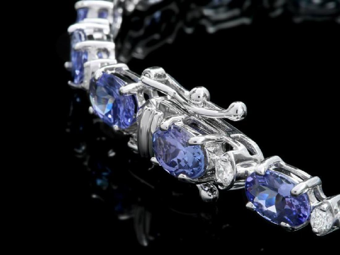 14k 12.50ct Tanzanite 0.80ct Diamond Bracelet - 3