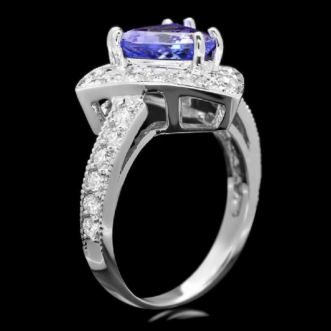 14k Gold 2.40ct Tanzanite 1.00ct Diamond Ring - 3