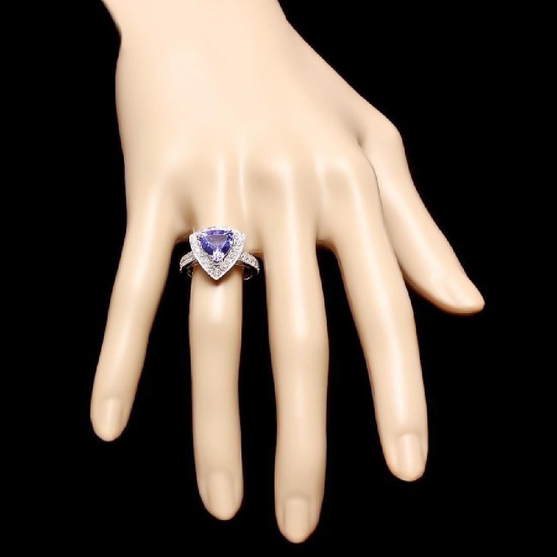 14k Gold 2.40ct Tanzanite 1.00ct Diamond Ring - 4