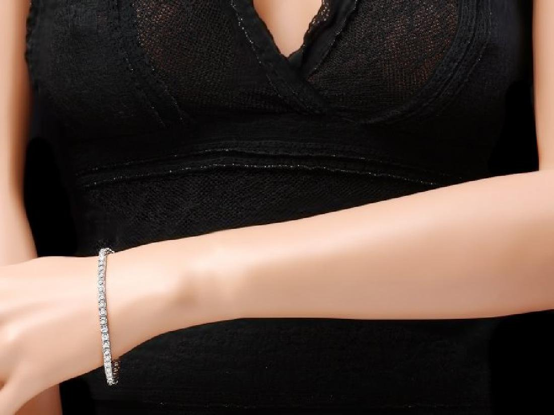 18k White Gold 8.00ct Diamond Bracelet - 4