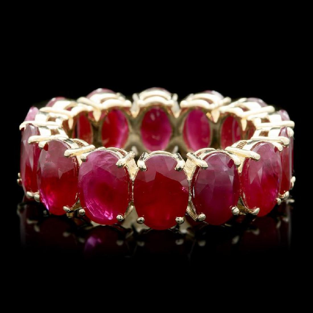 14k Yellow Gold 11.00ct Ruby Ring