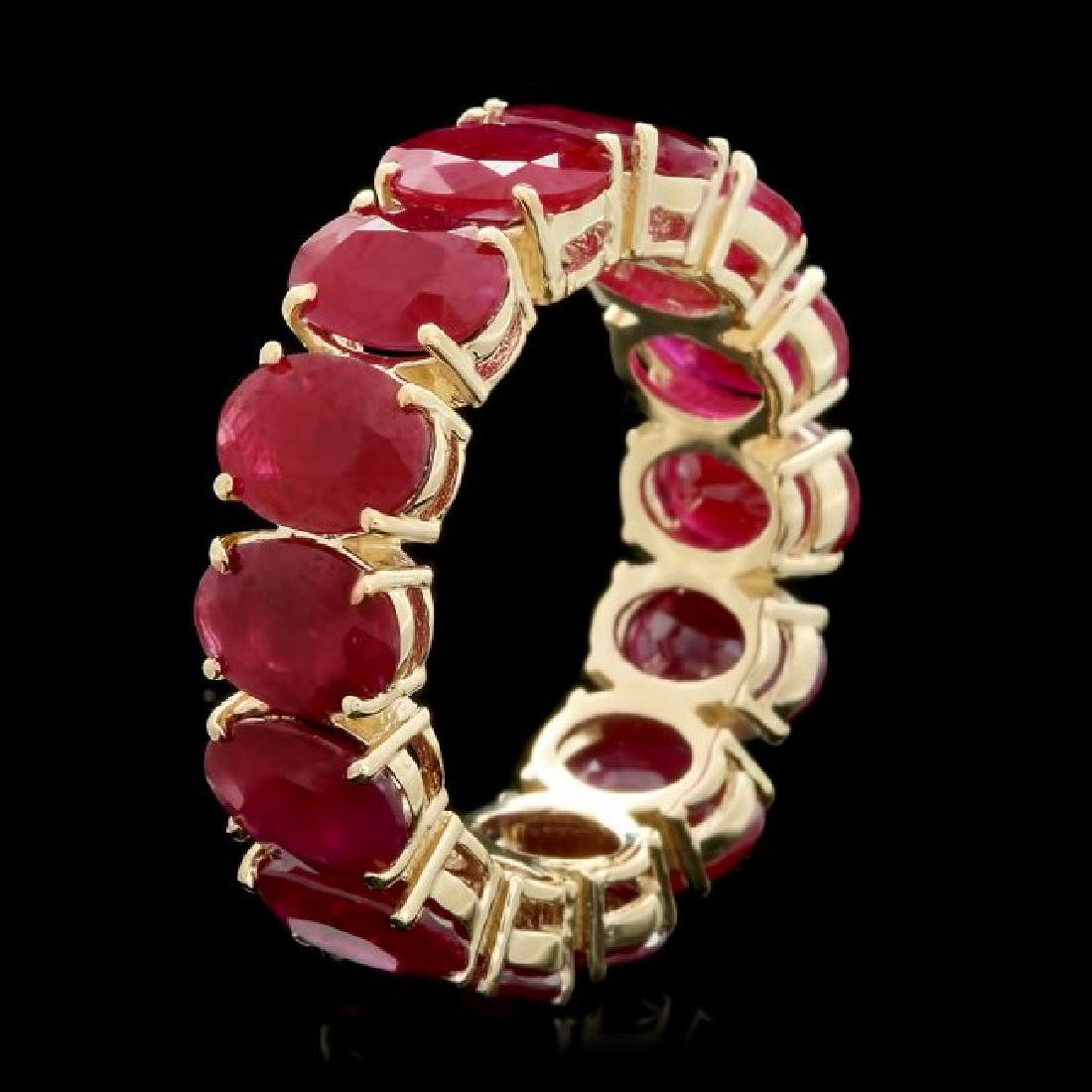 14k Yellow Gold 11.00ct Ruby Ring - 2
