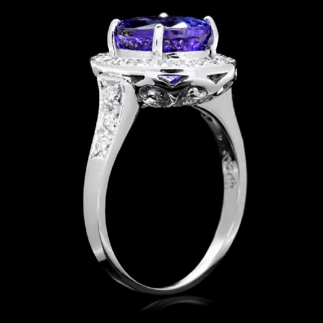 14k Gold 4.00ct Tanzanite 0.50ct Diamond Ring - 3