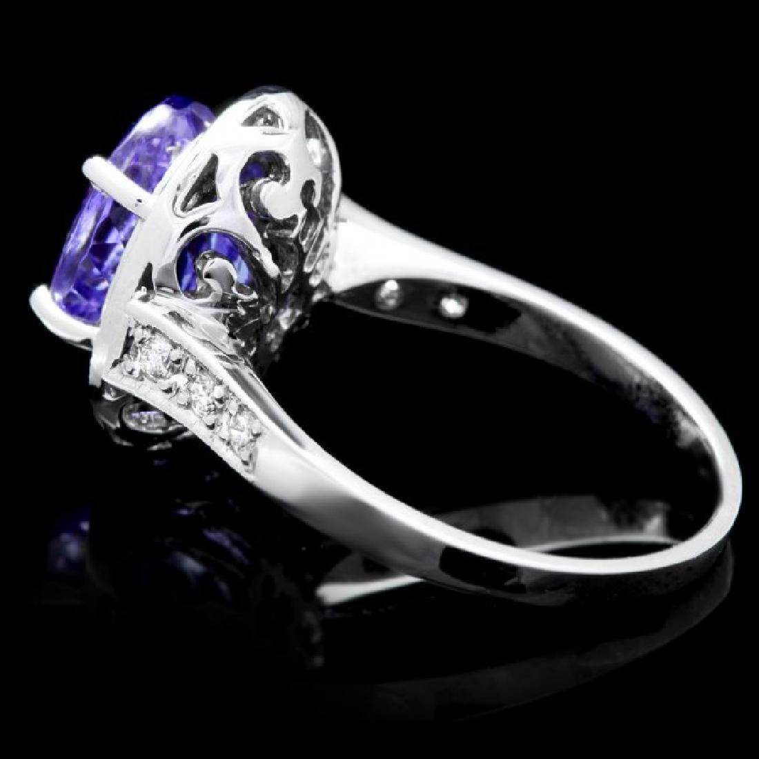 14k Gold 4.00ct Tanzanite 0.50ct Diamond Ring - 5