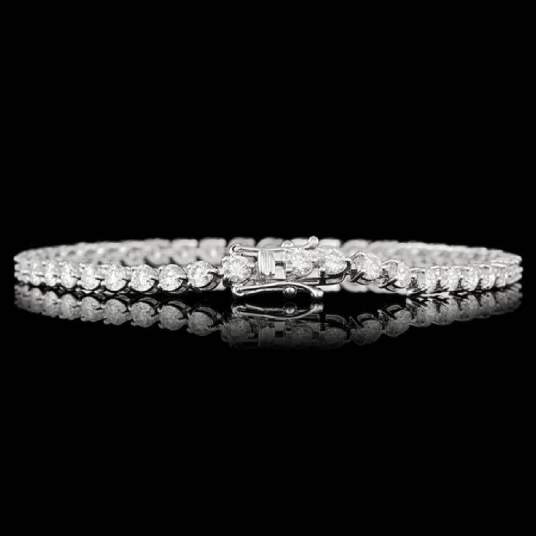 18k White Gold 6.25ct Diamond Bracelet - 3