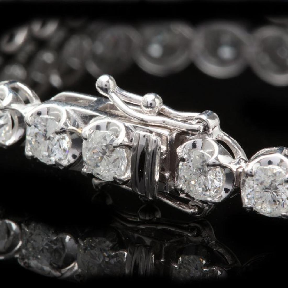 18k White Gold 8.50ct Diamond Bracelet - 2