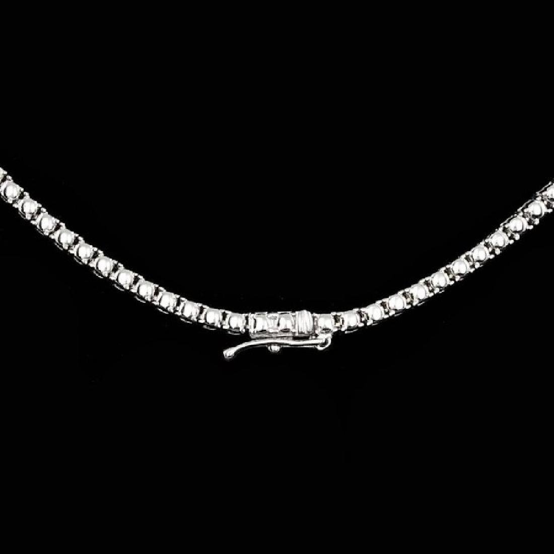 18k White Gold 12.60ct Diamond Necklace - 3