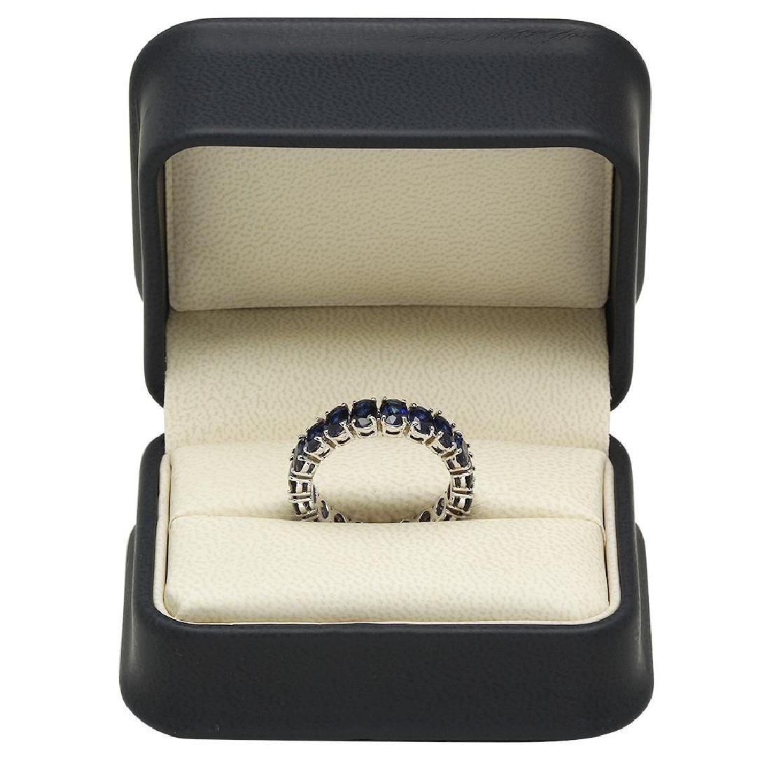 14K Gold 9.00ct Sapphire Ring - 4