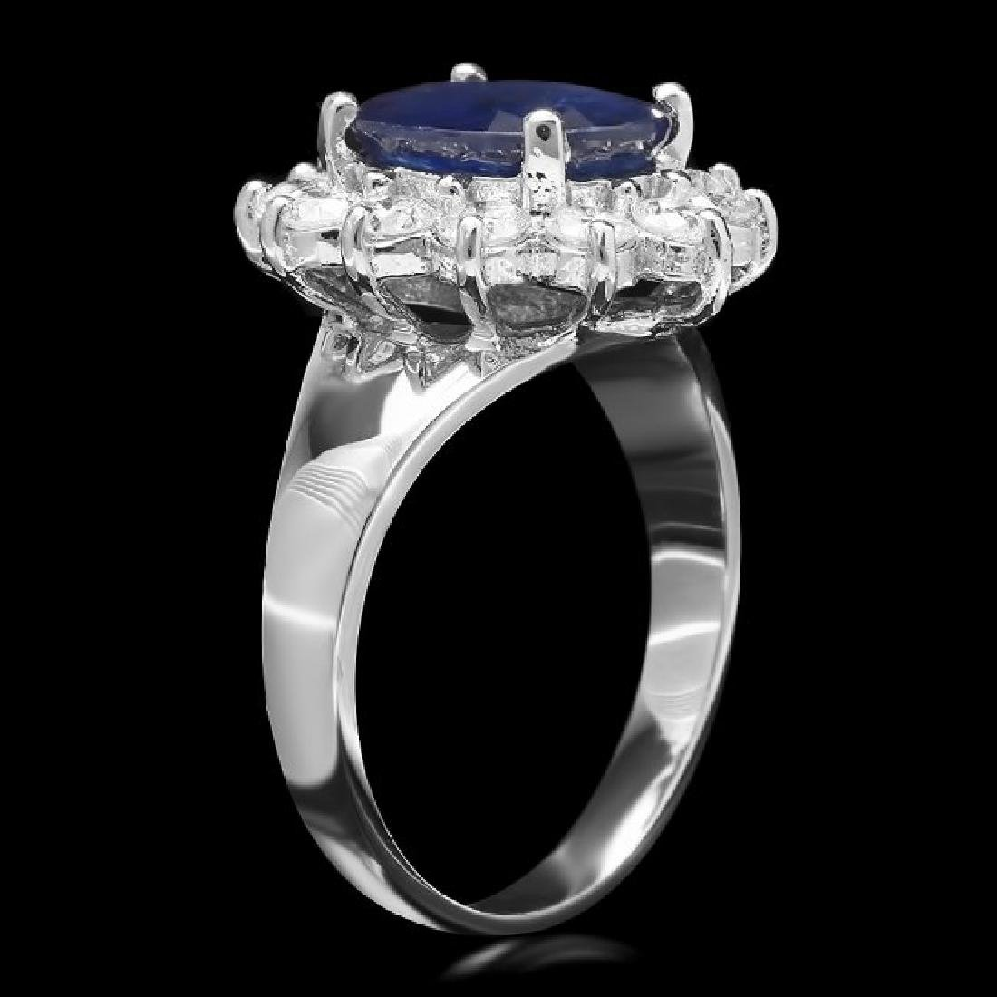 14k Gold 3.00ct Sapphire 0.90ct Diamond Ring - 2