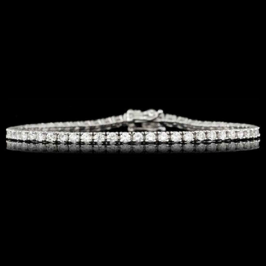 14k White Gold 3.70ct Diamond Bracelet