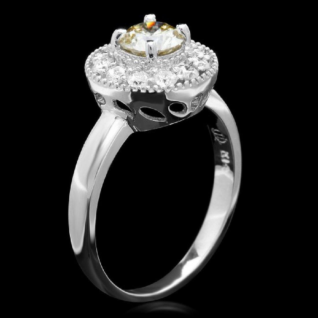 14k White Gold 1.05ct Diamond Ring - 2
