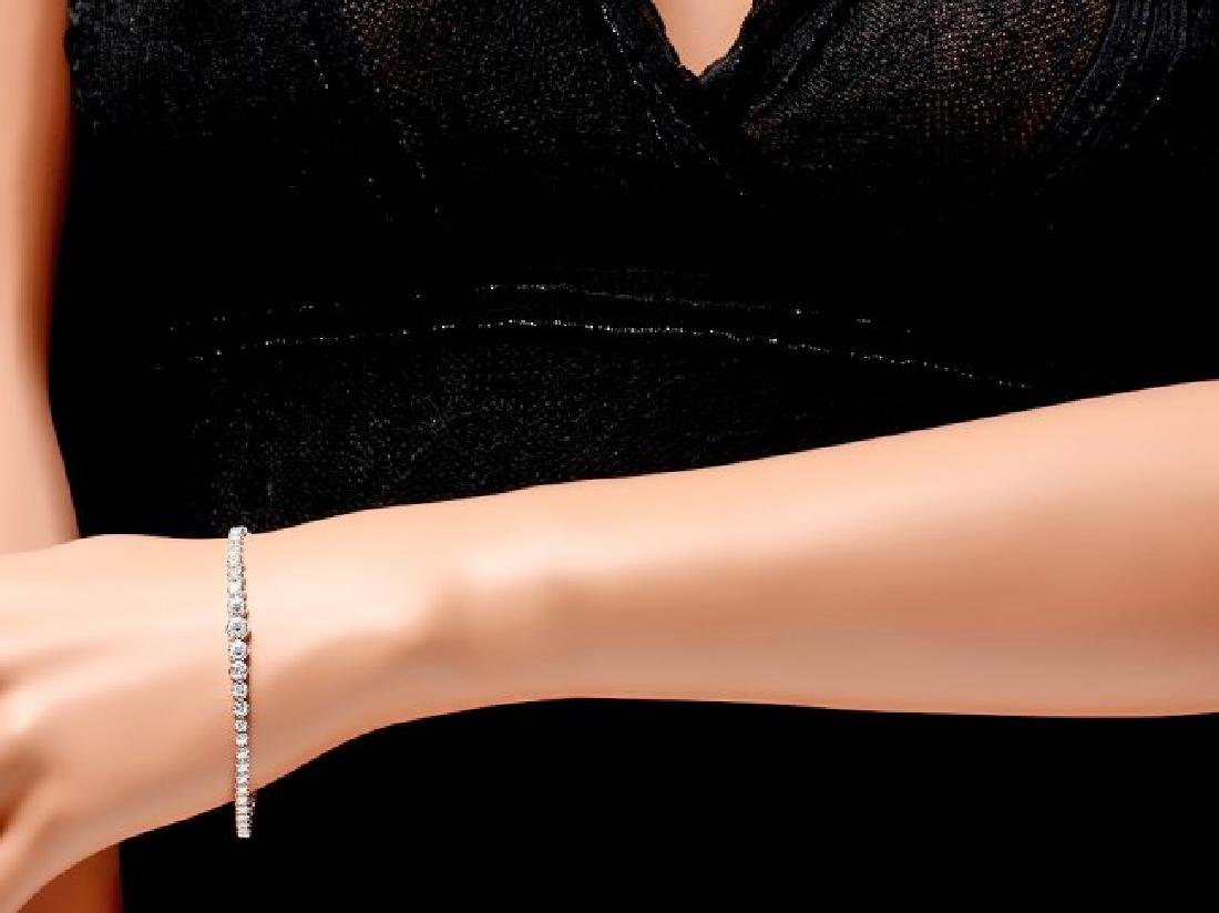 18k White Gold 3.00ct Diamond Bracelet - 4