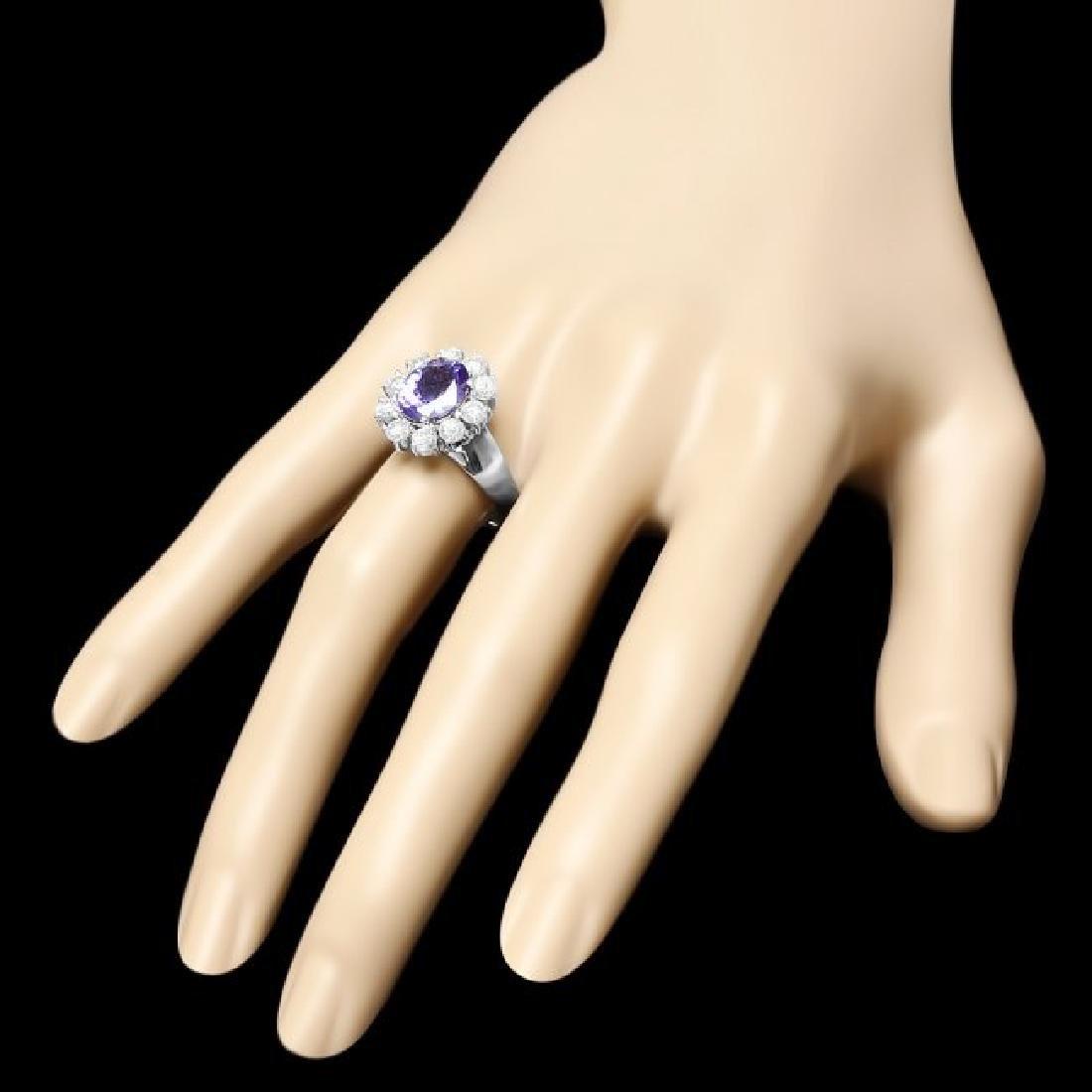 14k Gold 2.50ct Tanzanite 1.25ct Diamond Ring - 3