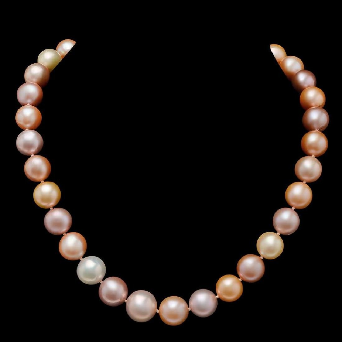 12-15mm Natural South Sea Pearl Necklace - 2