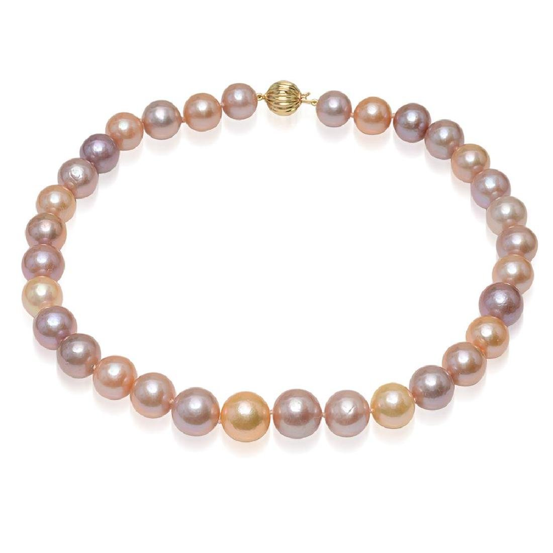 12-15mm Natural South Sea Pearl Necklace - 3