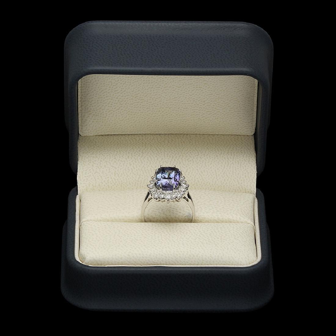 14K Gold 4.00ct Tanzanite 0.90ct Diamond Ring - 3