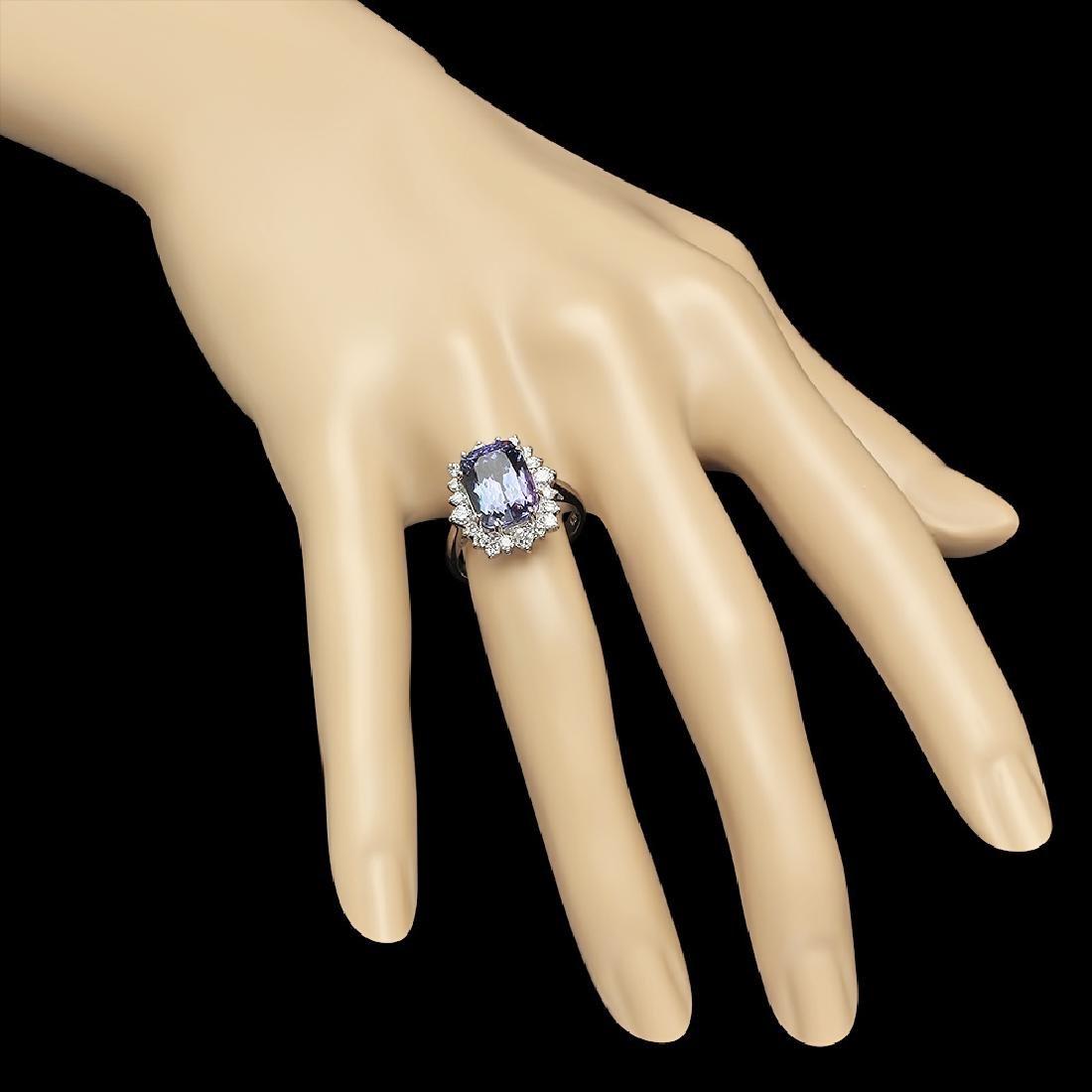 14K Gold 4.00ct Tanzanite 0.90ct Diamond Ring - 4