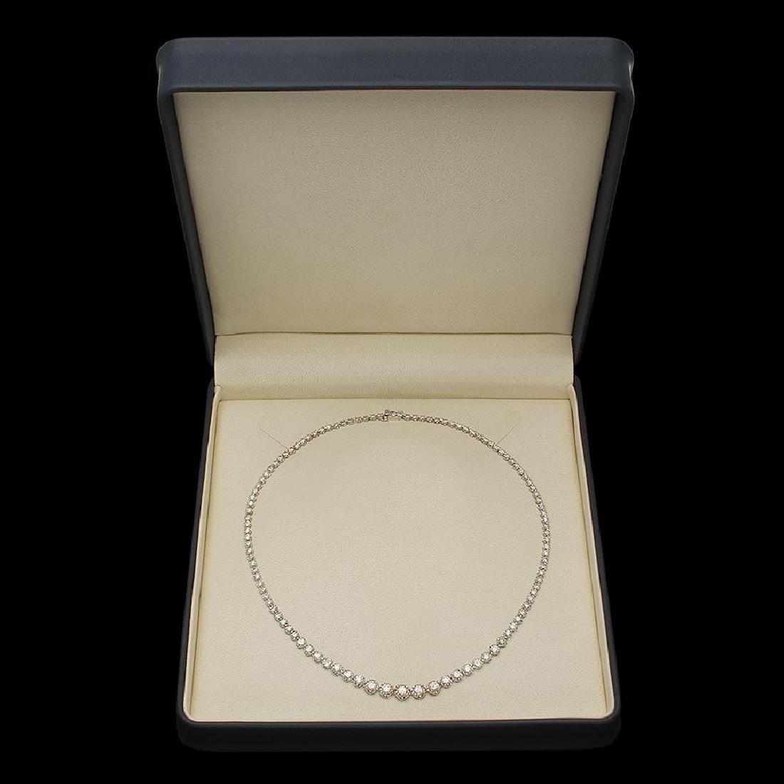 14K Gold 11.00ct Diamond Necklace - 4
