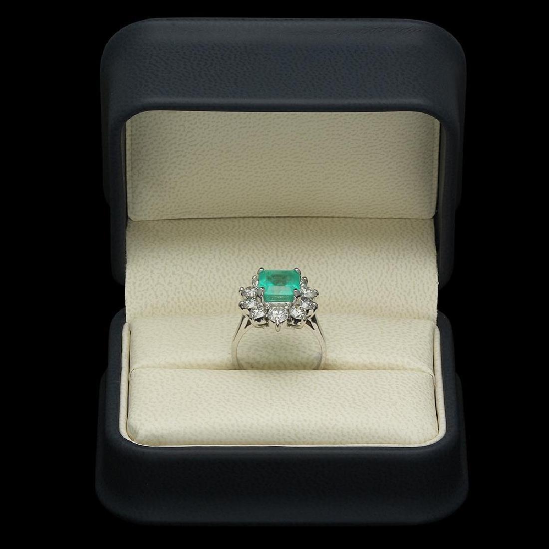 14K Gold 3.49ct Emerald 2.00ct Diamond Ring - 4