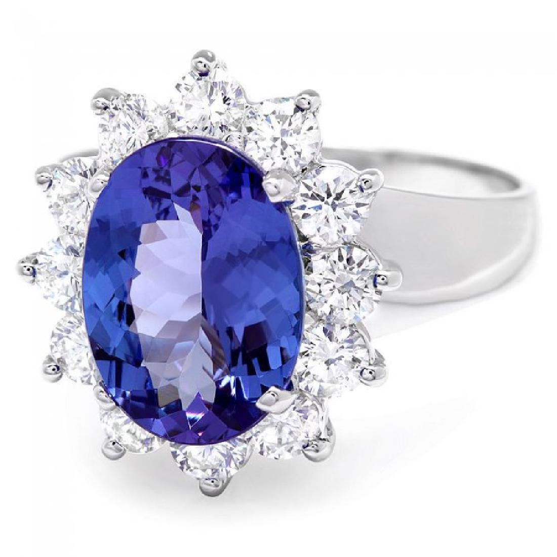 14k Gold 3.00ct Tanzanite 1.00ct Diamond Ring - 2