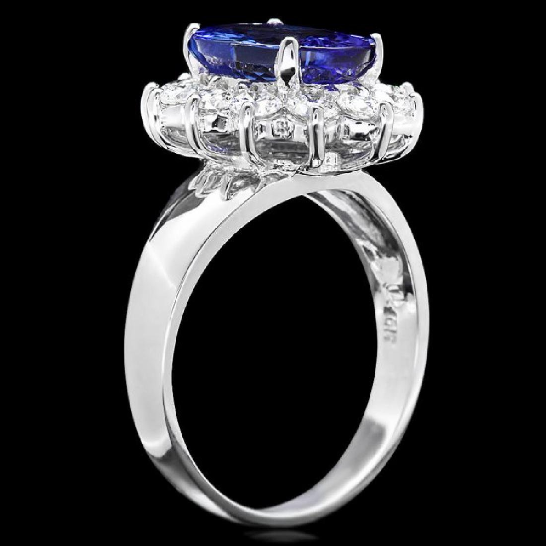 14k Gold 3.00ct Tanzanite 1.00ct Diamond Ring - 3