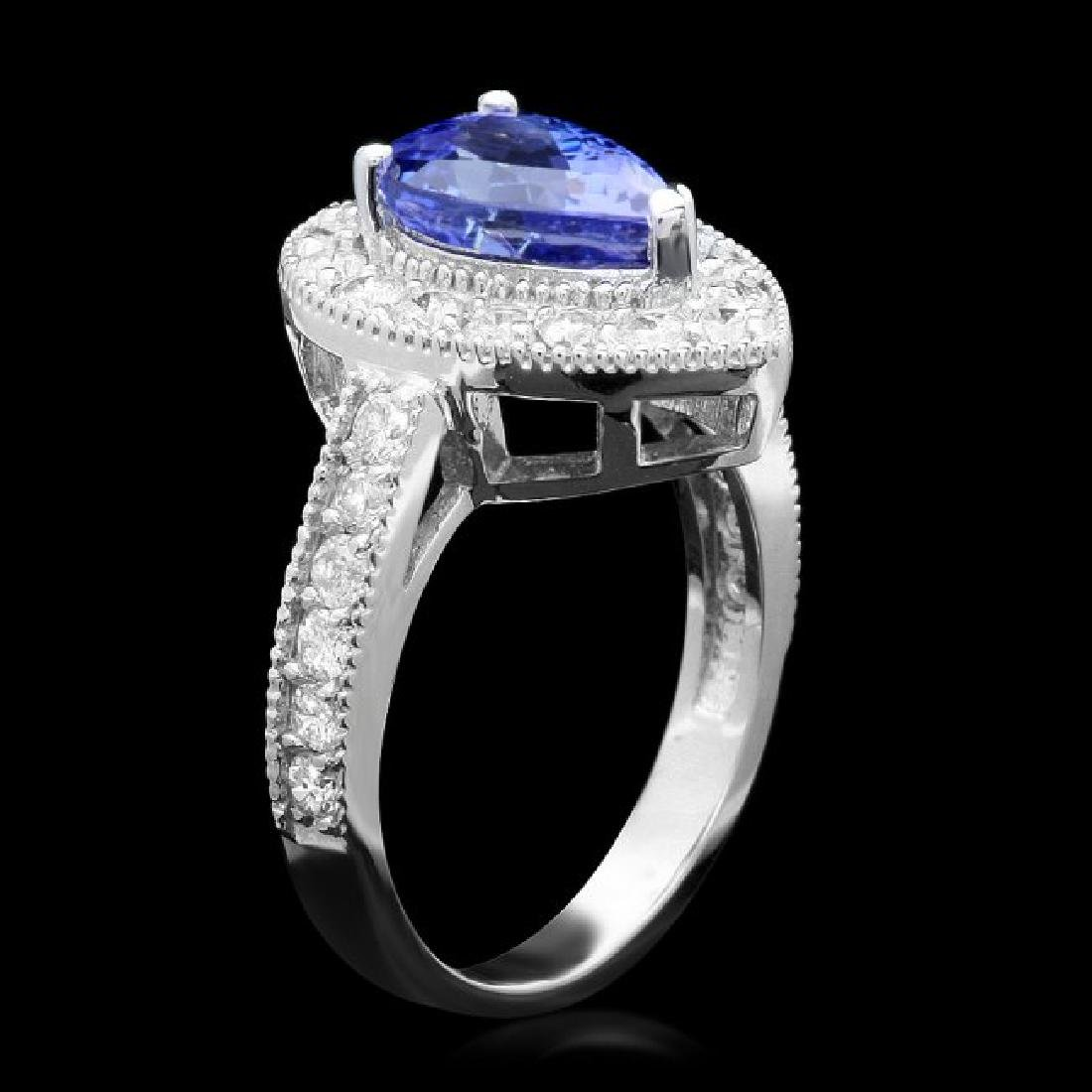 14k Gold 2.50ct Tanzanite 1.00ct Diamond Ring - 2