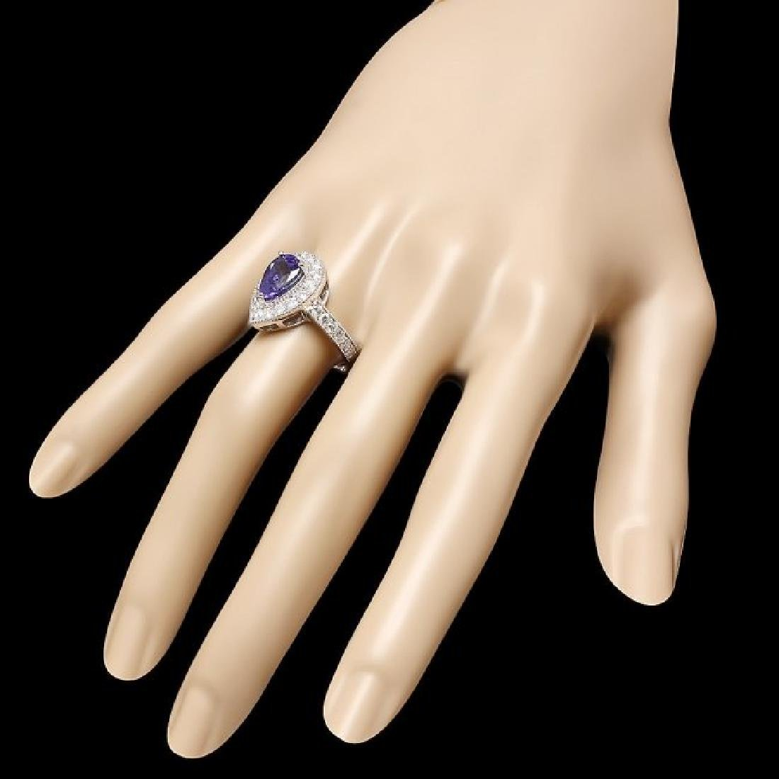 14k Gold 2.50ct Tanzanite 1.00ct Diamond Ring - 3