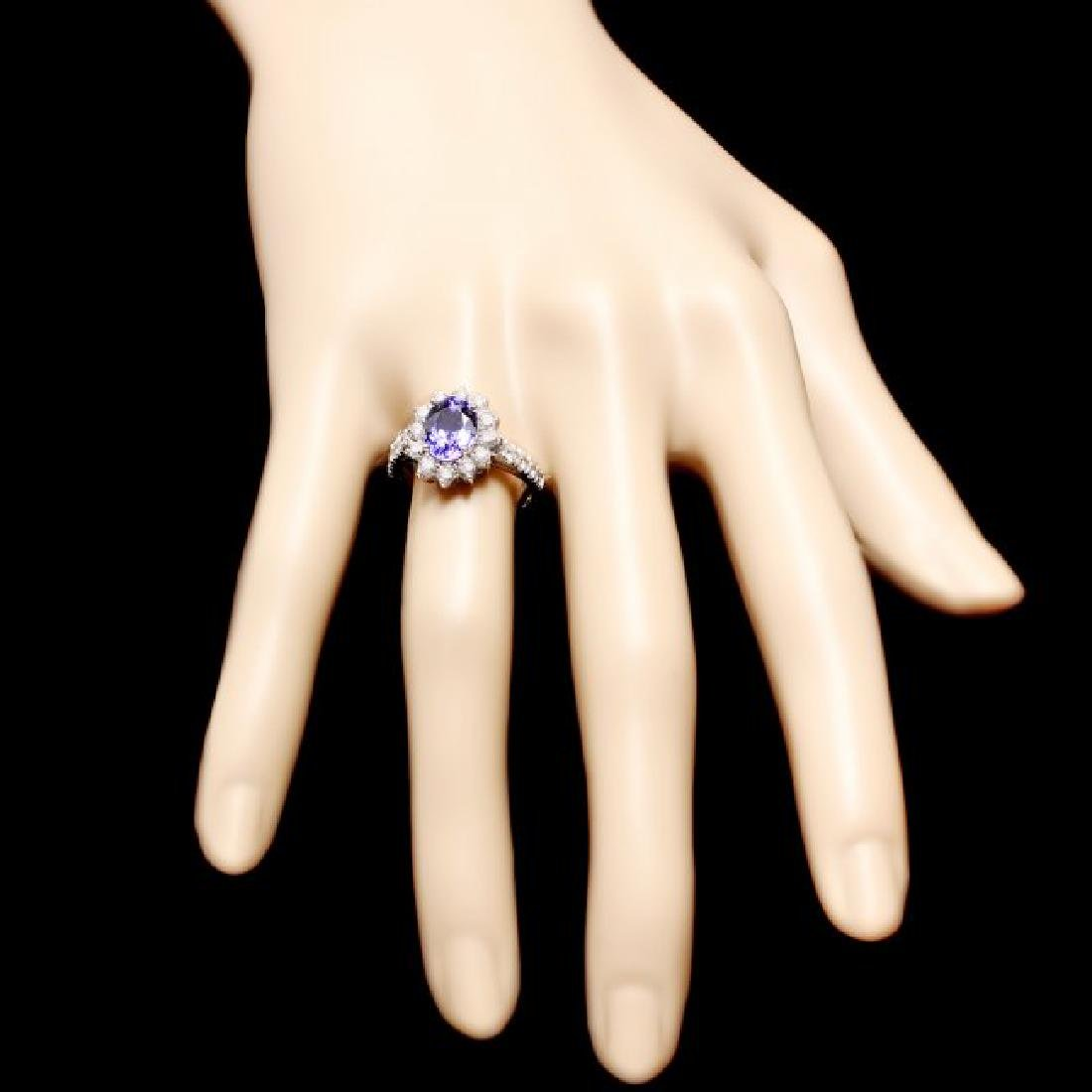 14k Gold 2.20ct Tanzanite 1.00ct Diamond Ring - 4