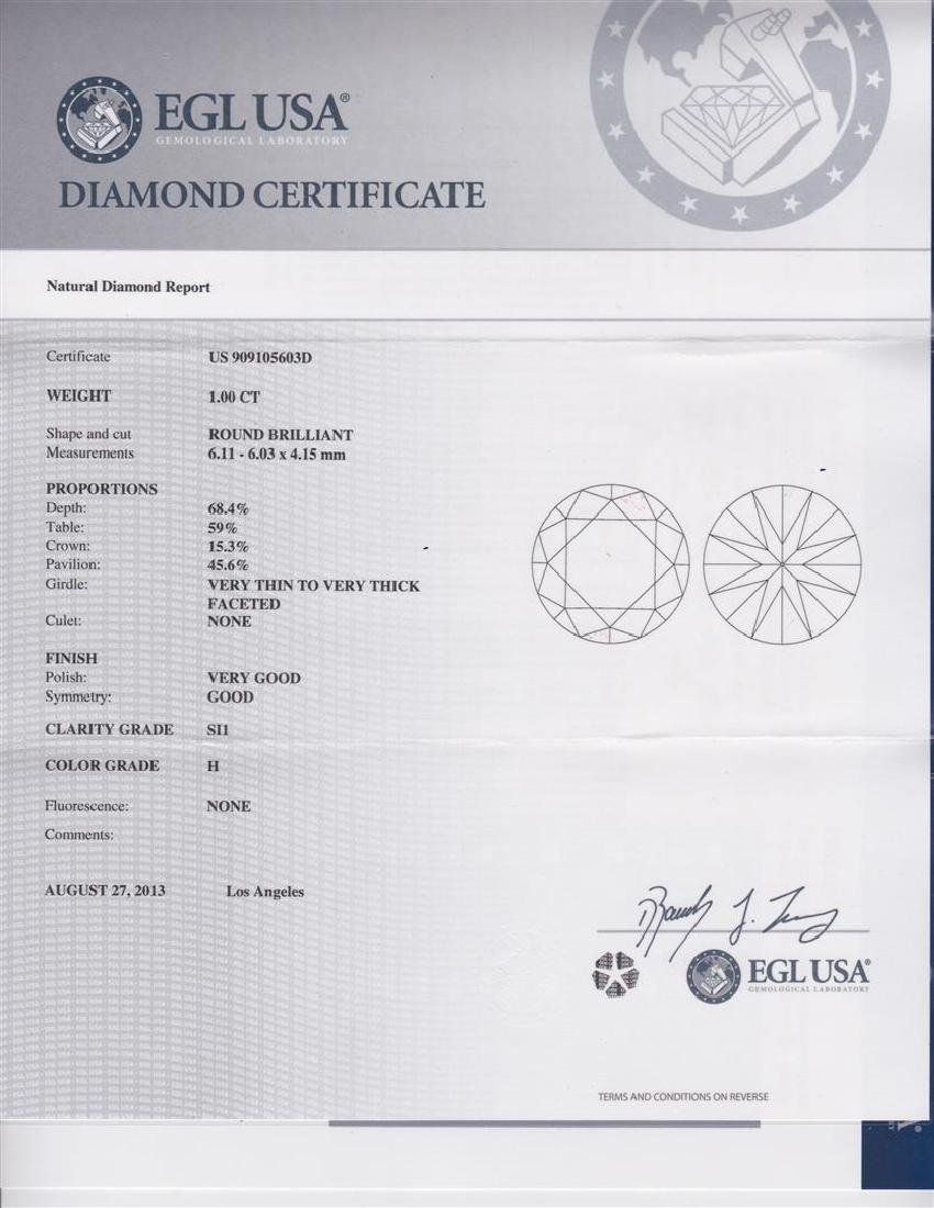 14K Gold 1.44ct Diamond Ring - 5