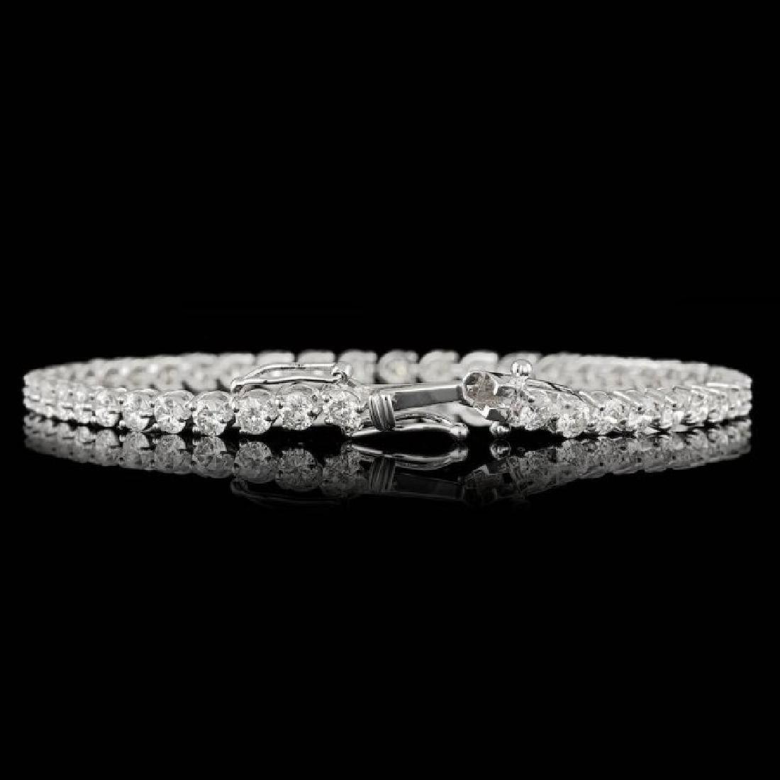 18k White Gold 6.25ct Diamond Bracelet - 2