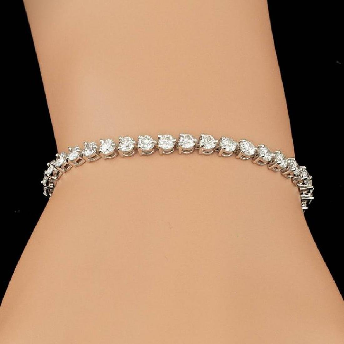 18k White Gold 6.25ct Diamond Bracelet - 4