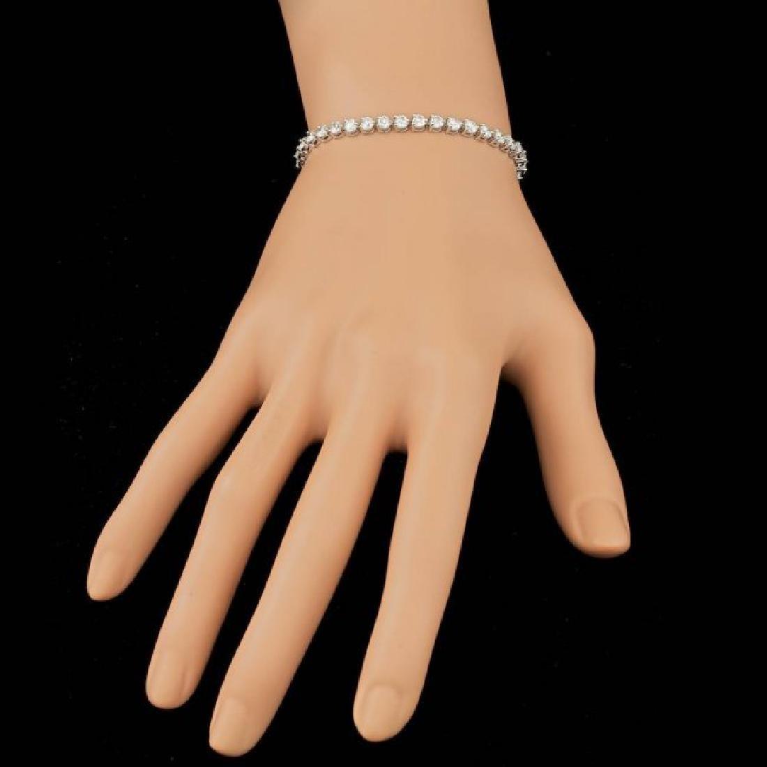 18k White Gold 6.25ct Diamond Bracelet - 5