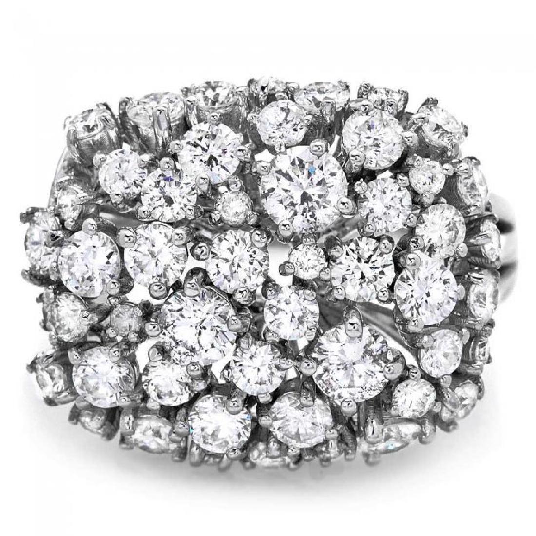 14k White Gold 2.50ct Diamond Ring - 2