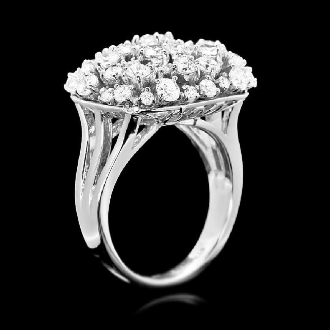14k White Gold 2.50ct Diamond Ring - 3
