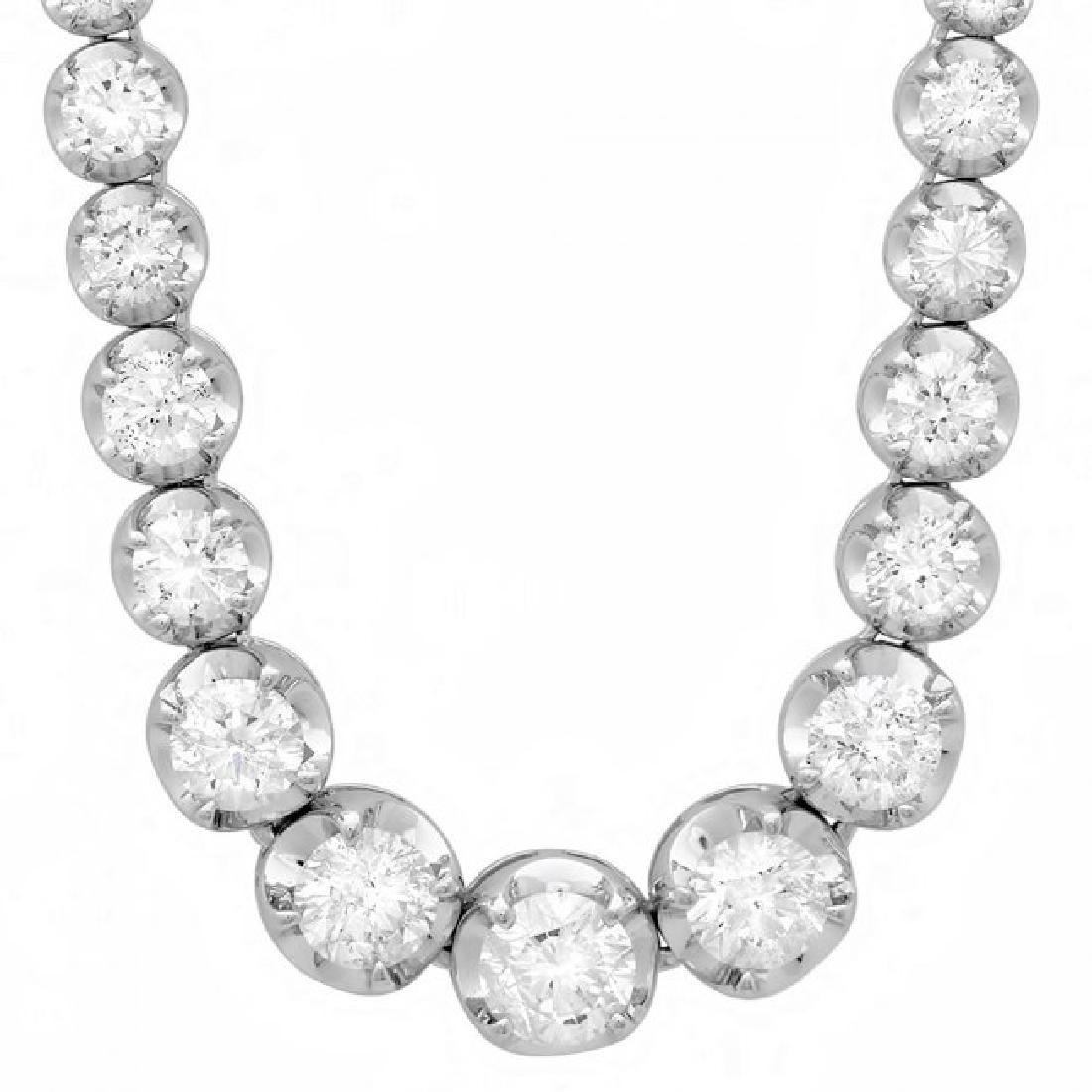 18k White Gold 10.20ct Diamond Necklace - 6