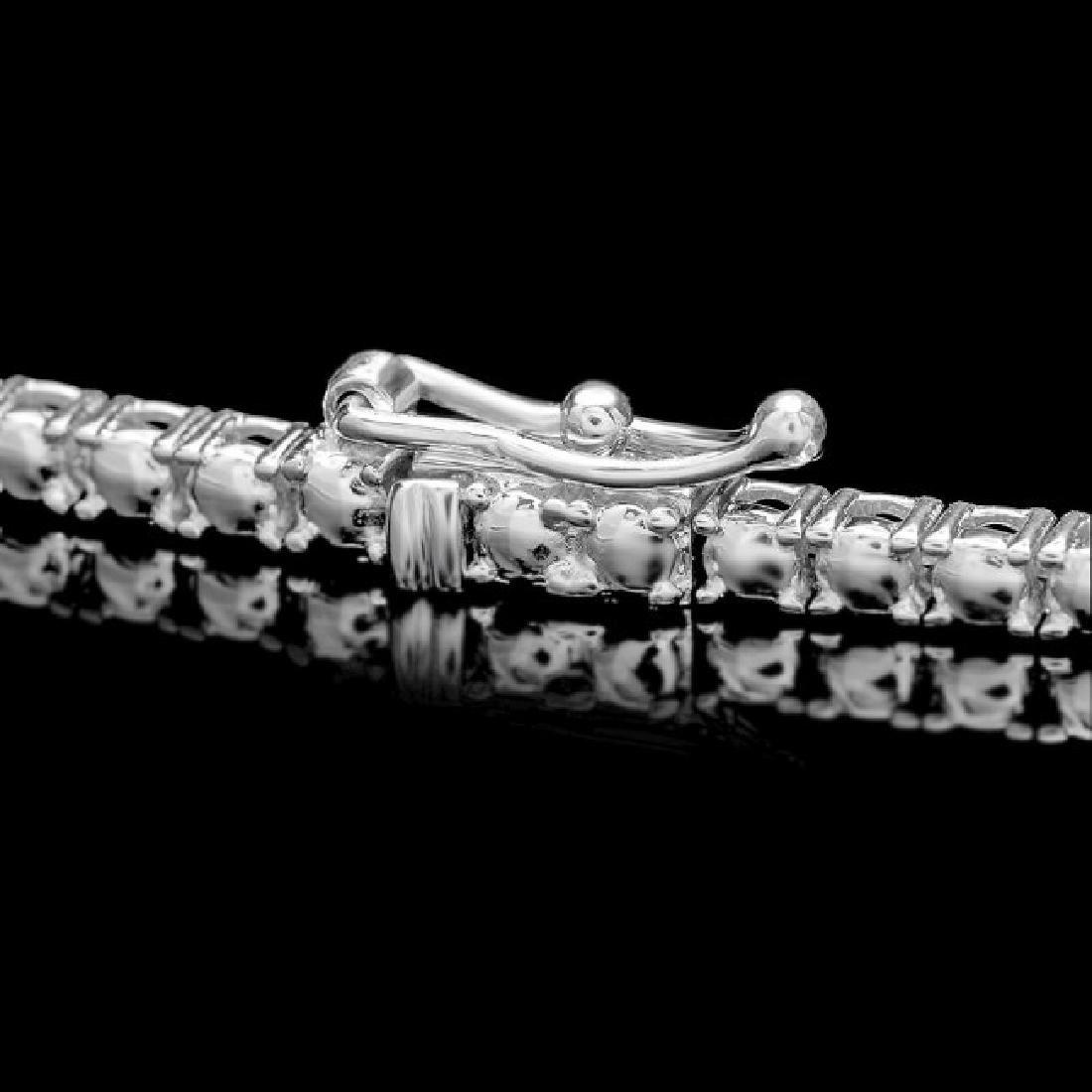 18k White Gold 12.90ct Diamond Necklace - 3