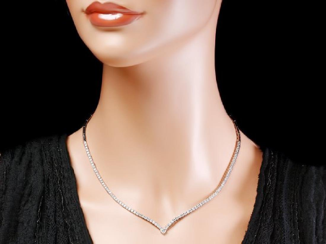 18k White Gold 3.50ct Diamond Necklace - 3