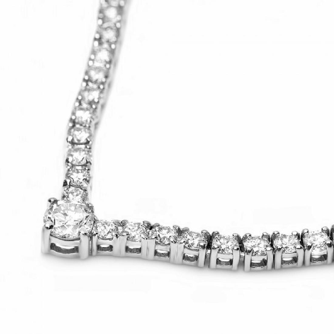 18k White Gold 3.50ct Diamond Necklace - 5