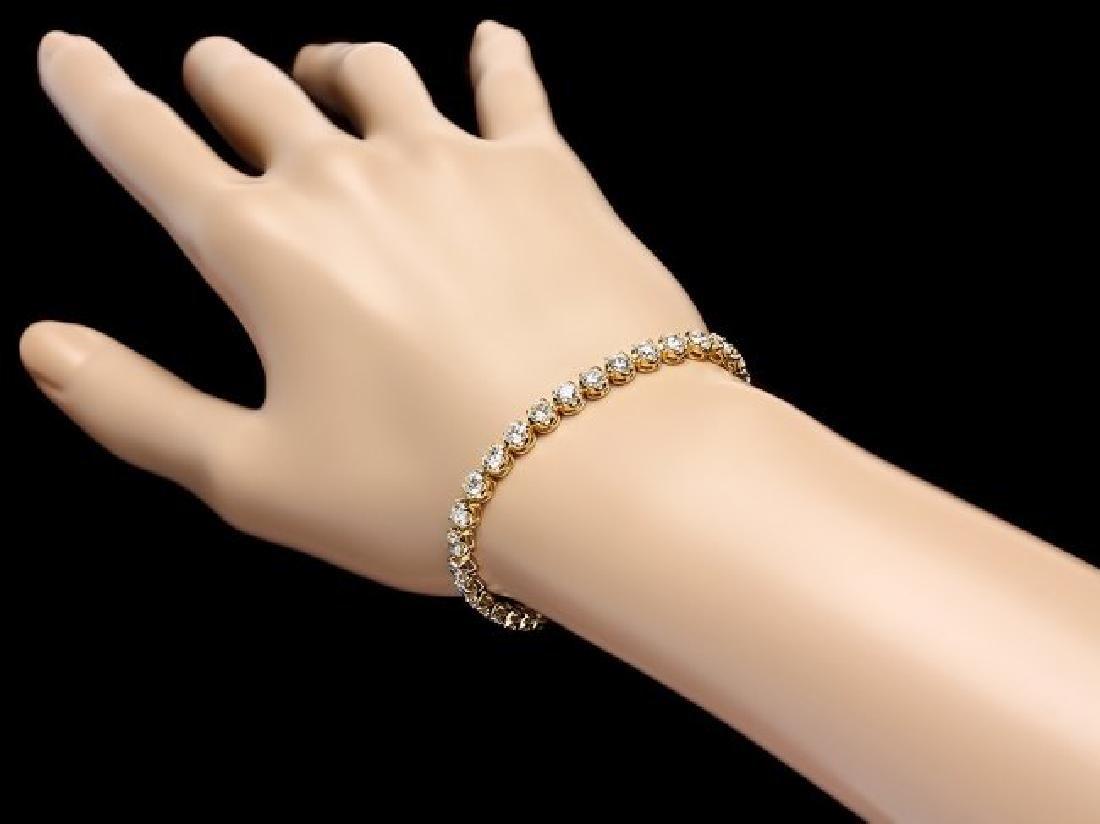 18k Yellow Gold 7.60ct Diamond Bracelet - 5