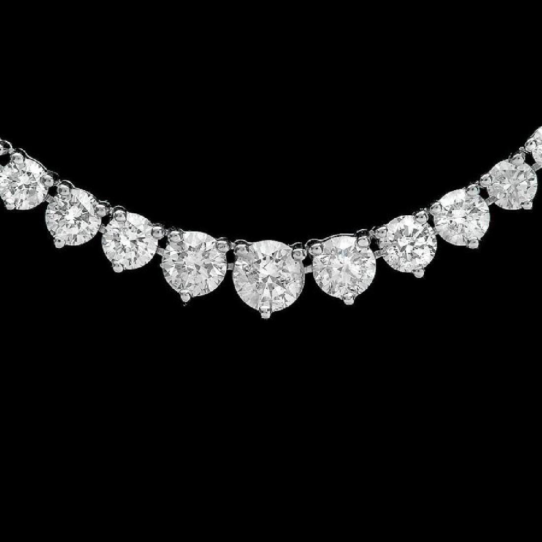 14k White Gold 9.30ct Diamond Necklace - 2