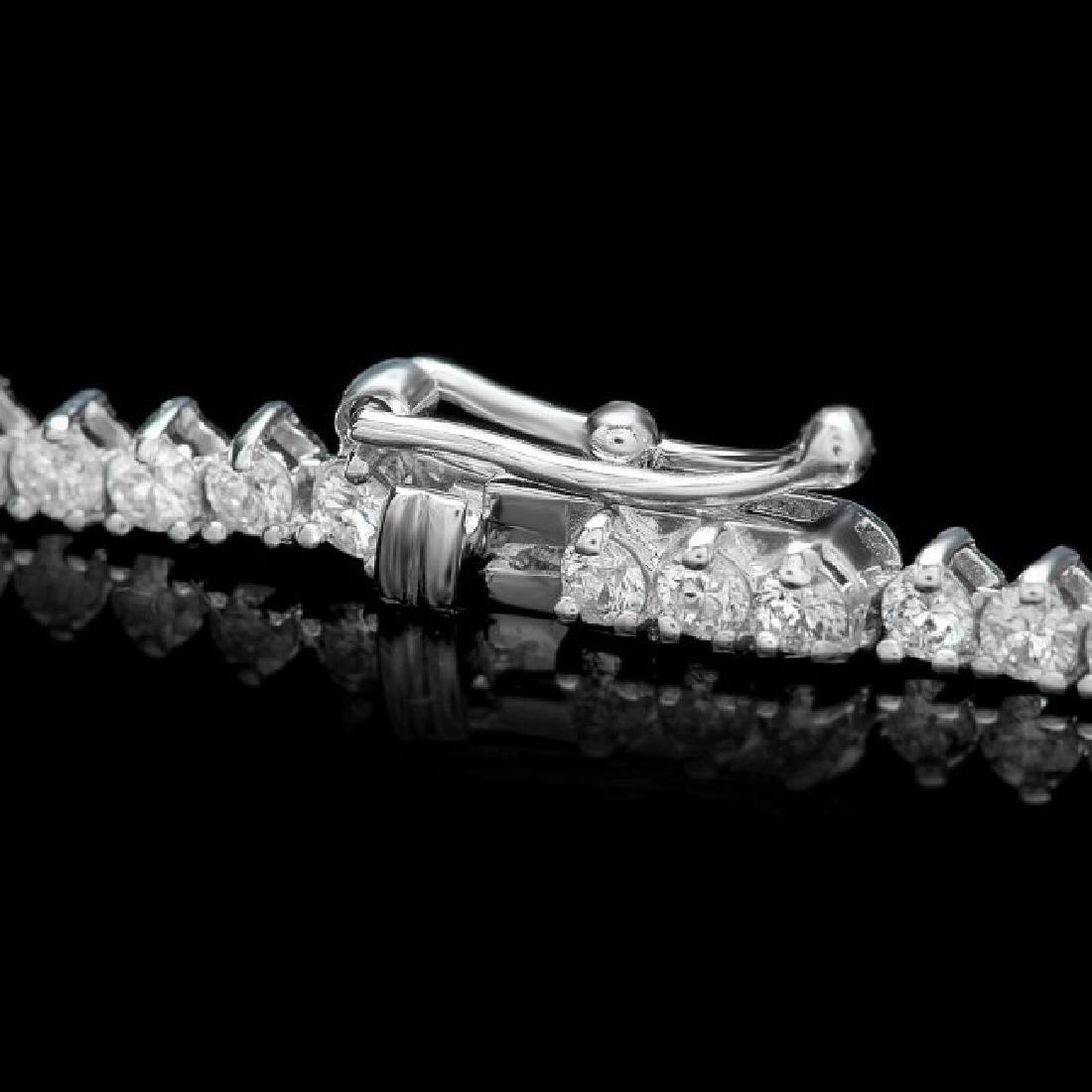 14k White Gold 9.30ct Diamond Necklace - 3