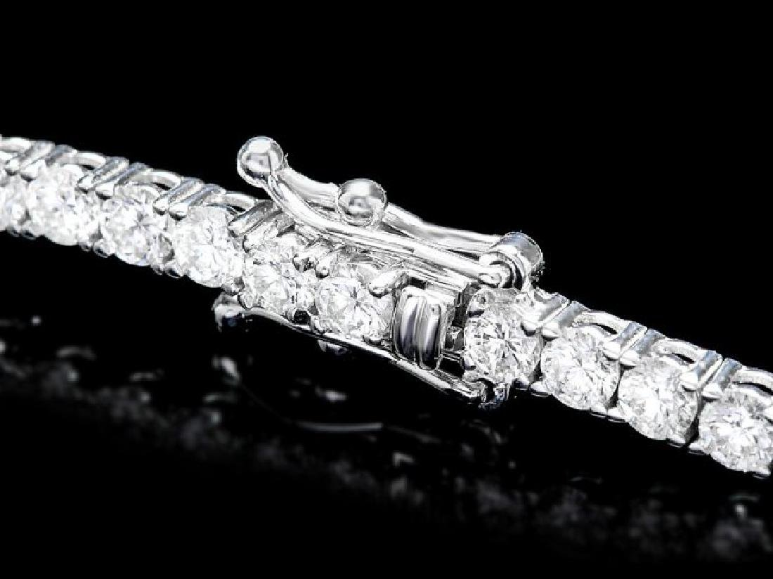 18k White Gold 4.60ct Diamond Bracelet - 2