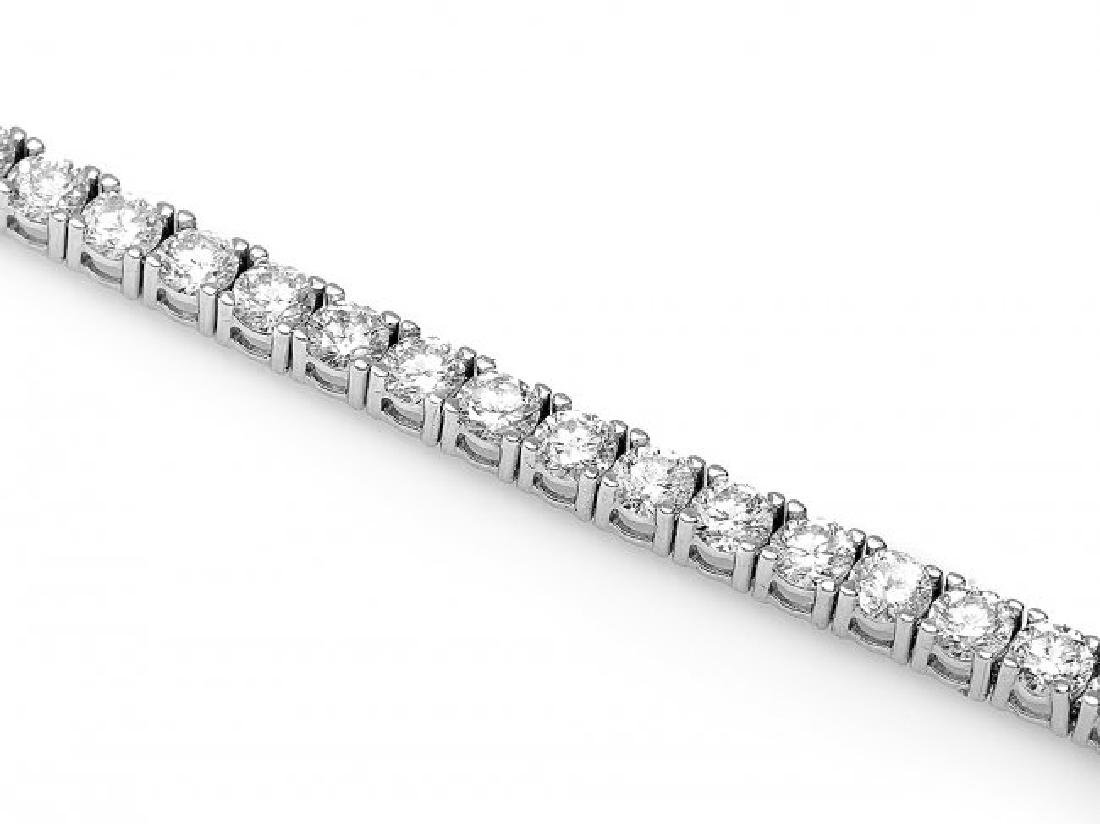 18k White Gold 4.60ct Diamond Bracelet - 3