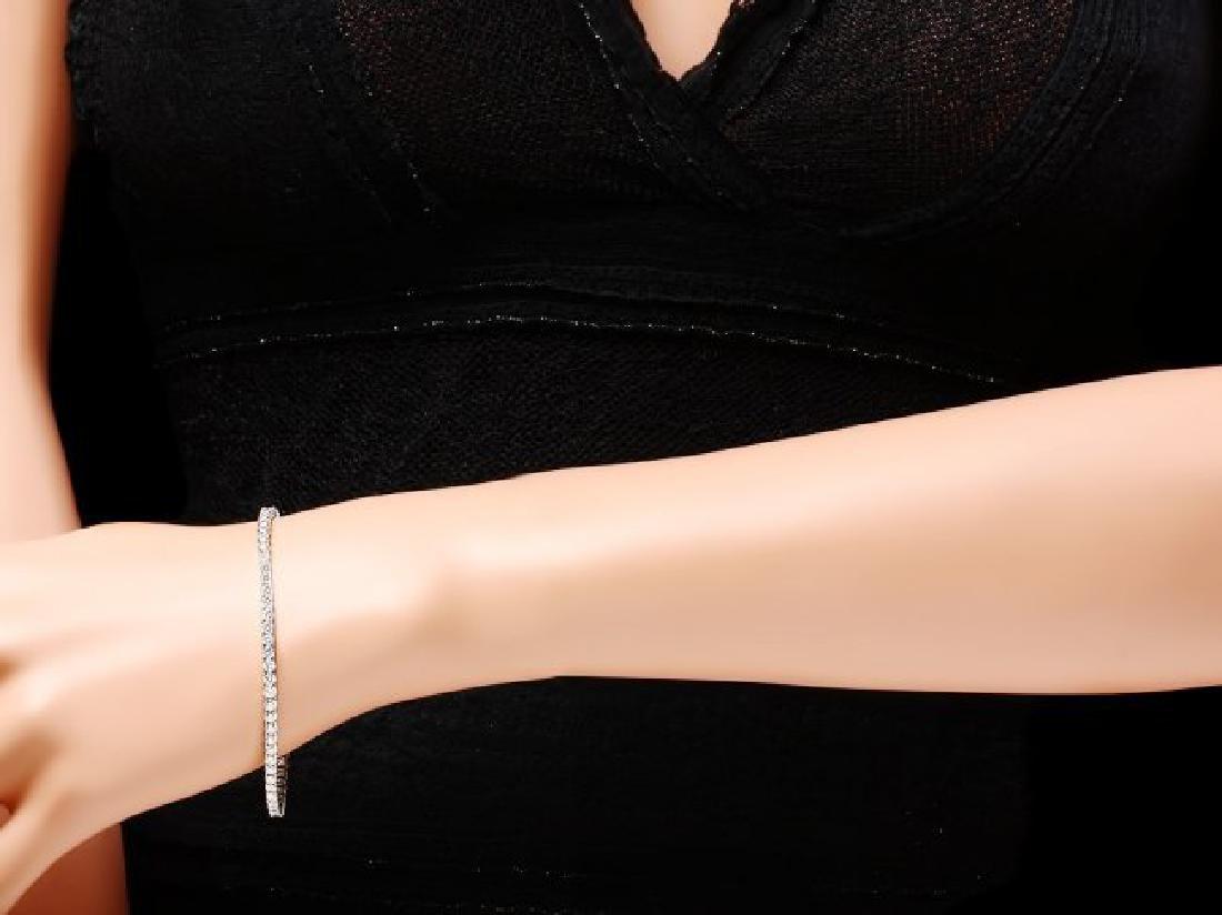 18k White Gold 4.60ct Diamond Bracelet - 4