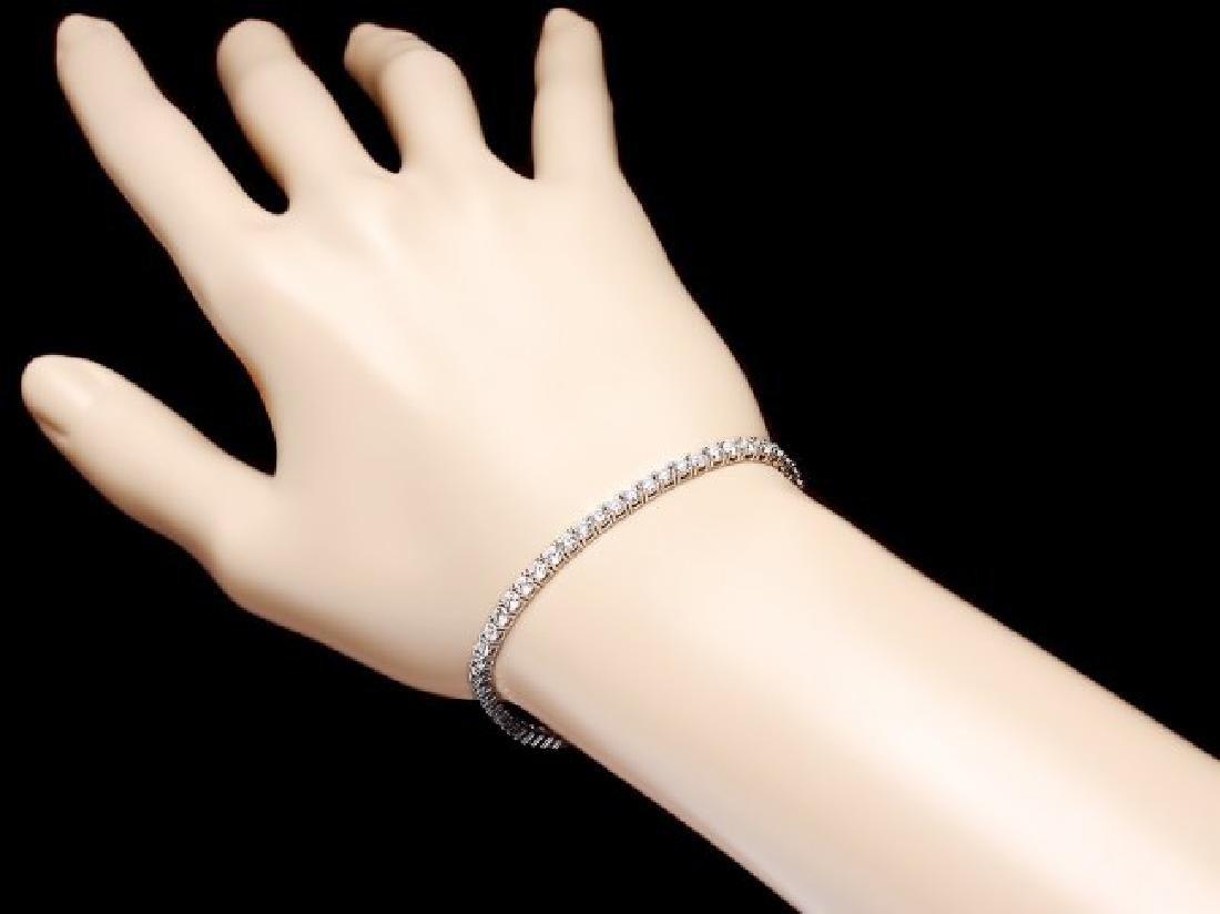 18k White Gold 4.60ct Diamond Bracelet - 5
